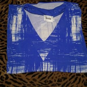 Ladies 3/4-sleeve Abstract print Blouse
